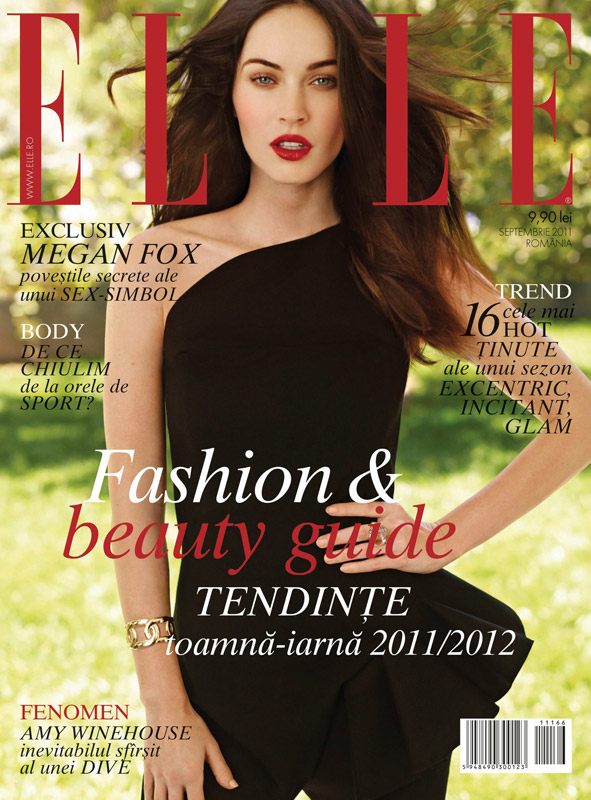 ELLE Romania ~~ Cover girl: Megan Fox ~~ Septembrie 2011