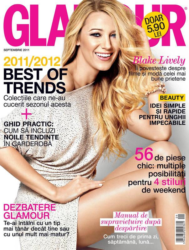 Glamour Romania ~~ Cover girl: Blake Lively ~~ Septembrie 2011