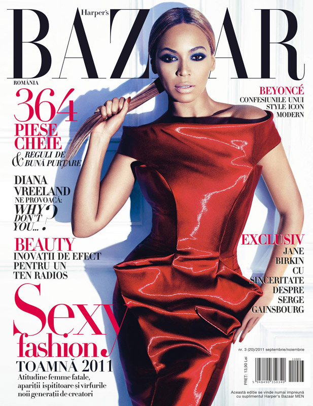 Harper\'s Bazaar Romania ~~ cover girl: Beyonce ~~ Septembrie - Noiembrie 2011