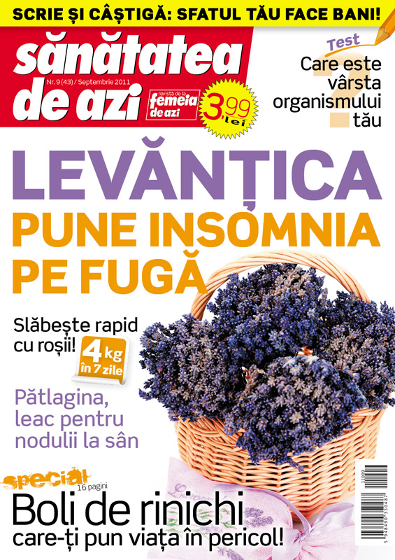 Sanatatea de azi ~~ Levantica pune insomnia pe fuga ~~ Septembrie 2011