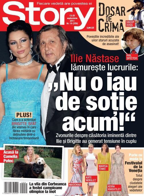 Story ~~ Cover people: Ilie Nastase si Brigitte Sfat ~~ 12 Septembrie 2011
