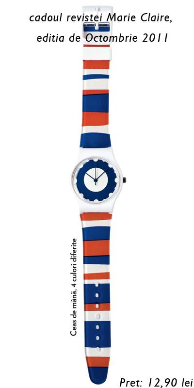 Ceasul de mana, cadou la revista Marie Claire ~~ editia de Octombrie 2011