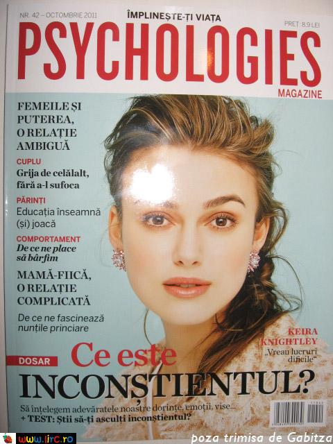 Psyhcologies ~~ Octombrie 2011