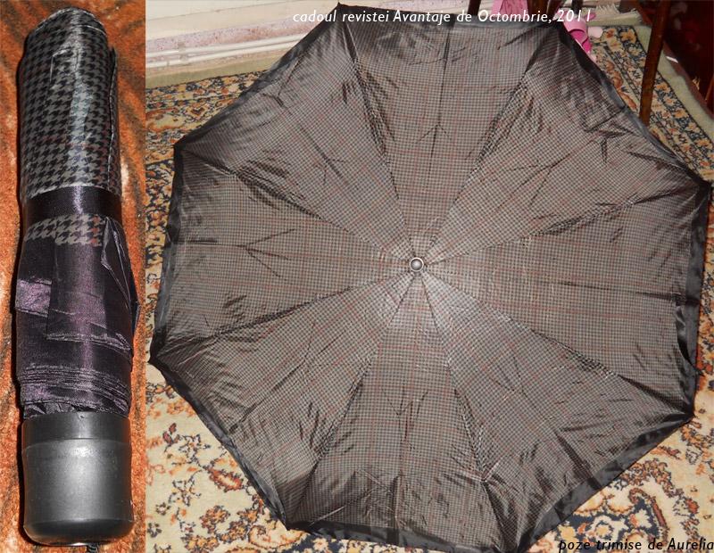 Detalii despre umbrela cadou la revista Avantaje, editia Octombrie 2011