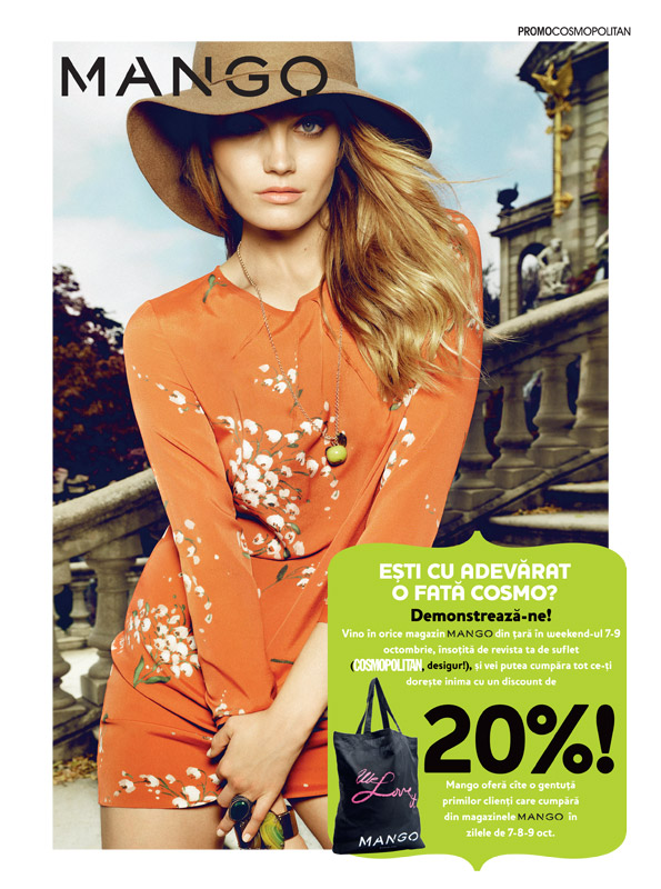 Cosmopolitan si Mango Shopping Party ~~ reducere 20% ~~ 7,8,9 Octombrie 2011