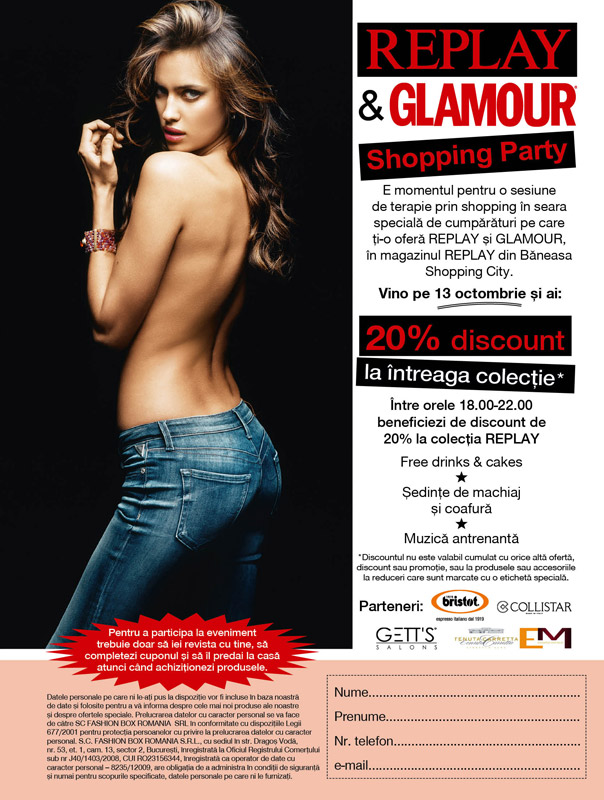 Glamour & Replay Shopping Party ~~ Baneasa Shopping City ~~ 13 Octombrie 2011