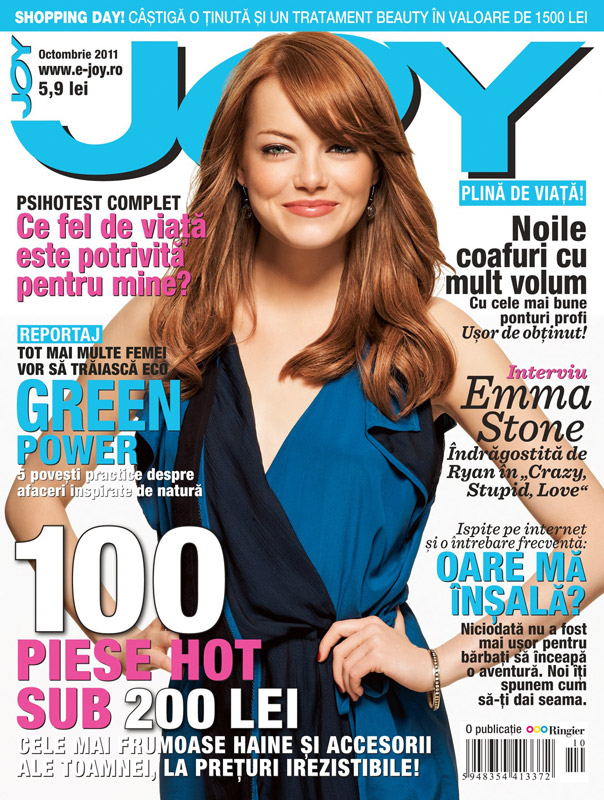 JOY Romania ~~ Cover girl: Emma Stone ~~ Octombrie 2011