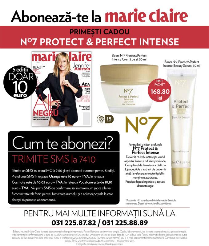 Oferta Marie Claire pentru abonamente ~~ valabila pana la 31 Octombrie 2011