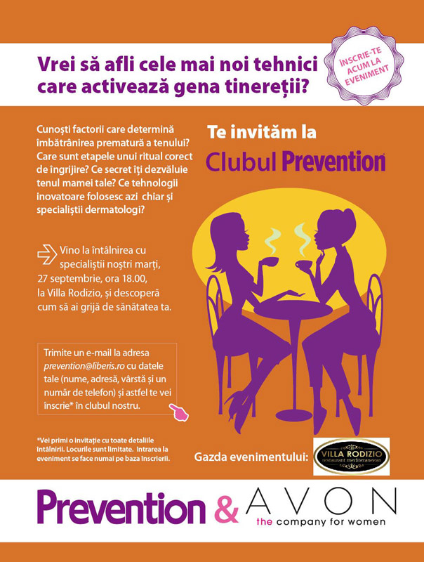 Invitatie la Clubul Prevention ~~ Bucuresti, 27 Septembrie 2011