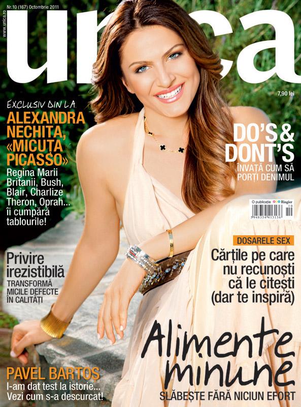 Unica ~~ Coperta: Alexandra Nechita ~~ Octombrie 2011