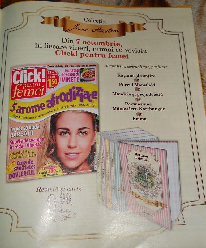 Promo COLECTIA JANE AUSTEN ~~ impreuna cu Click! pentru femei ~~ din 7 Octombrie 2011