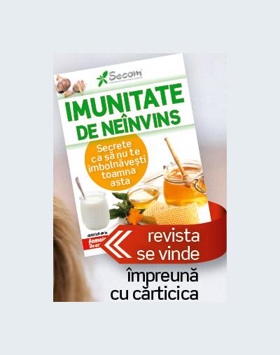 Carticica IMUNITATE DE NEINVINS ~~ impreuna cu Femeia de azi din 7 Octombrie 2011