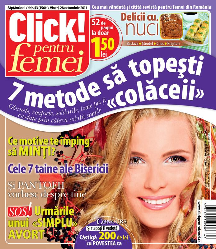 """Click! pentru femei ~~ 7 metode sa topesti \""""colaceii\"""" ~~ 28 Octombrie 2011"""