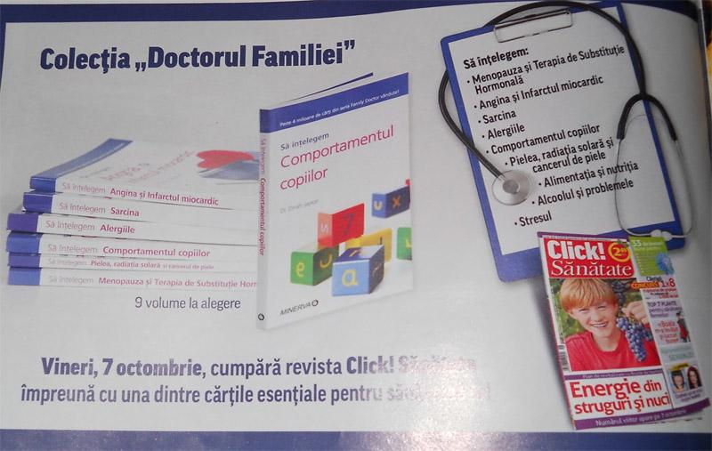 Colectia DOCTORUL FAMILIEI ~~ impreuna cu Click! Sanatate ~~ Octombrie 2011