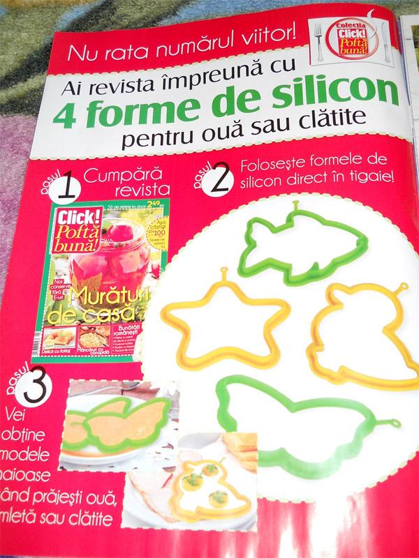 Promo FORME DIN SILICON PENTRU TIGAIE ~~ impreuna cu Click! Pofta buna ~~ Octombrie 2011