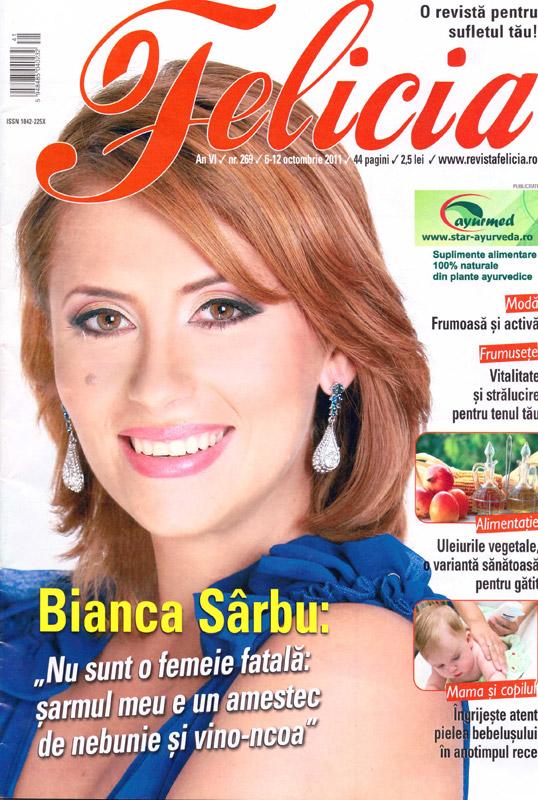 Felicia ~~ Coperta: Bianca Sarbu ~~ 6 Octombrie 2011