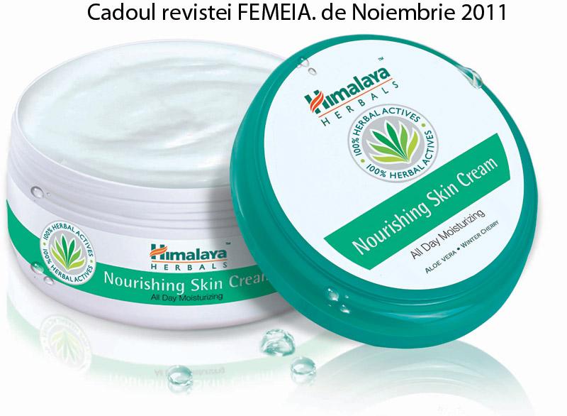Crema hidratanta pentru corp de la Himalaya Herbals ~~ impreuna cu revista FEMEIA. ~~ Noiembrie 2011 ~~ Pret: 10,90 lei