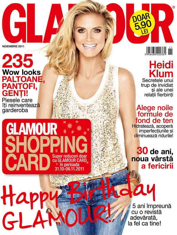 Glamour Romania ~~ Cover girl: Heidi Klum ~~ Noiembrie 2011