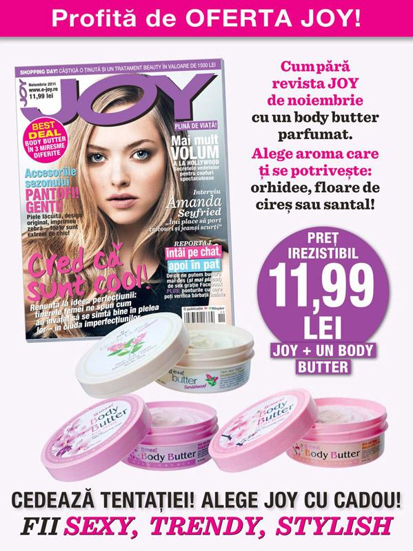 Promo JOY si FENNEL, editia Noiembrie 2011