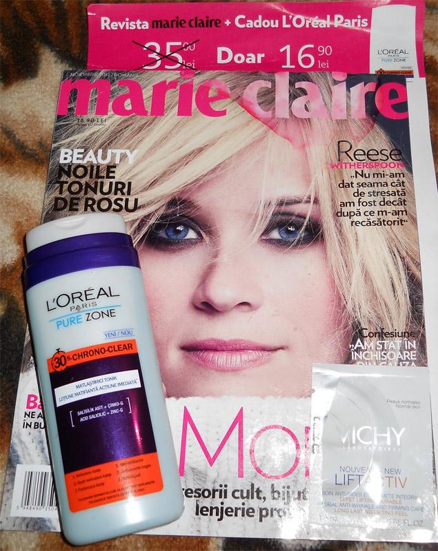 Marie Claire si cadoul L\' Oreal Paris ~~ Noiembrie 2011