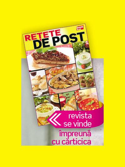 Carticica RETETE DE POST ~~ impreuna cu Femeia de azi din 11 Noiembrie 2011