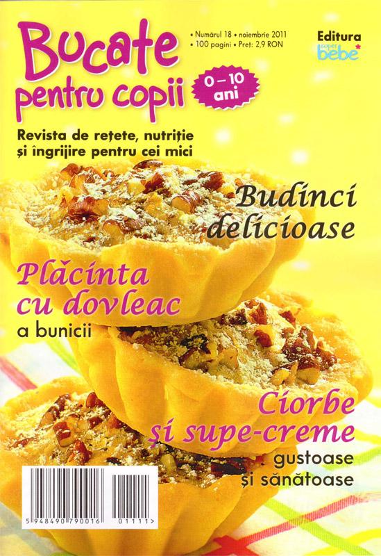 Bucate pentru copii ~~ Budinci delicioase ~~ Noiembrie 2011