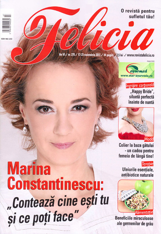 Felicia ~~ Coperta: Marina Constantinescu ~~ 17 Noiembrie 2011