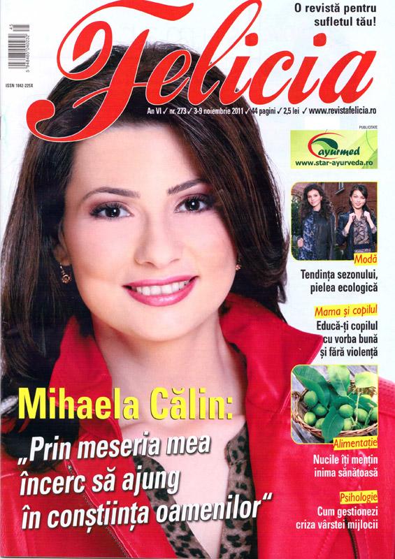 Felicia ~~ Coperta: Mihaela Calin ~~ 3 Noiembrie 2011