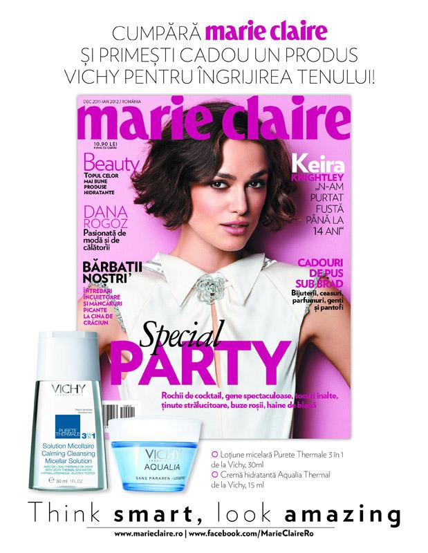 Promo Marie Claire, editia Decembrie 2011 - Ianuarie 2012
