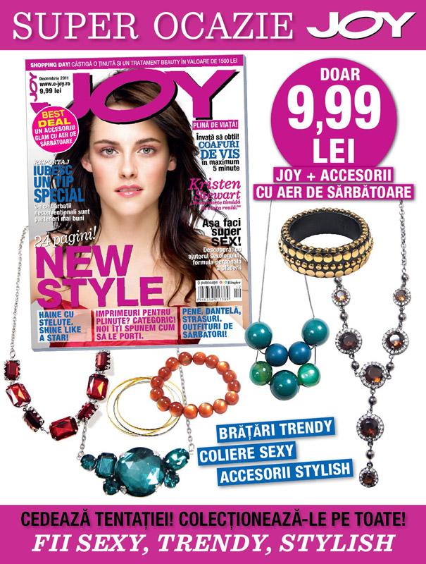 Promo JOY  - coperta si cadou accesorii cu aer de sarbatoare ~~ Decembrie 2011