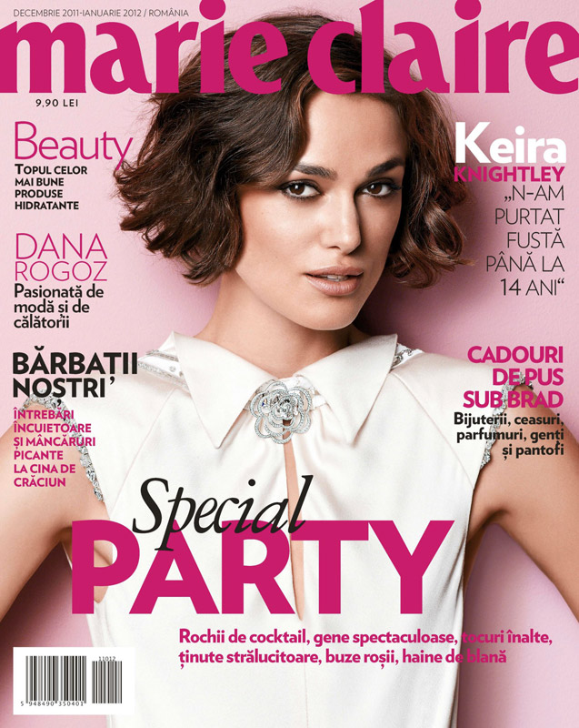 Marie CLaire Romania ~~ Cover girl: Keira Knightley ~~ Decembrie 2011 - Ianuarie 2012