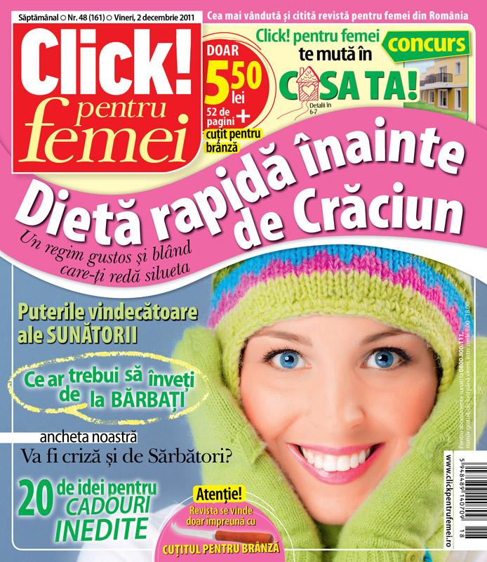 Click! pentru femei cu cadou cutit pentru branza ~~ 2 Decembrie 2011 ~~ Pret: 5,50 lei