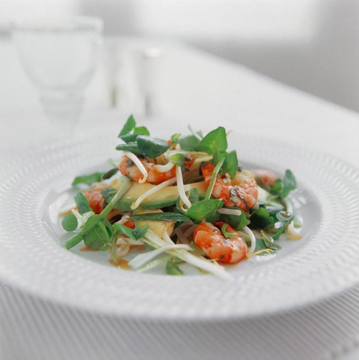 Creveti si salata mediteraneeana ~~ Pranz preparat in cadrul evenimentului La masa cu Good Food ~~ 10 Iulie 2011 ~~ AFI Palace Cotroceni, Bucuresti