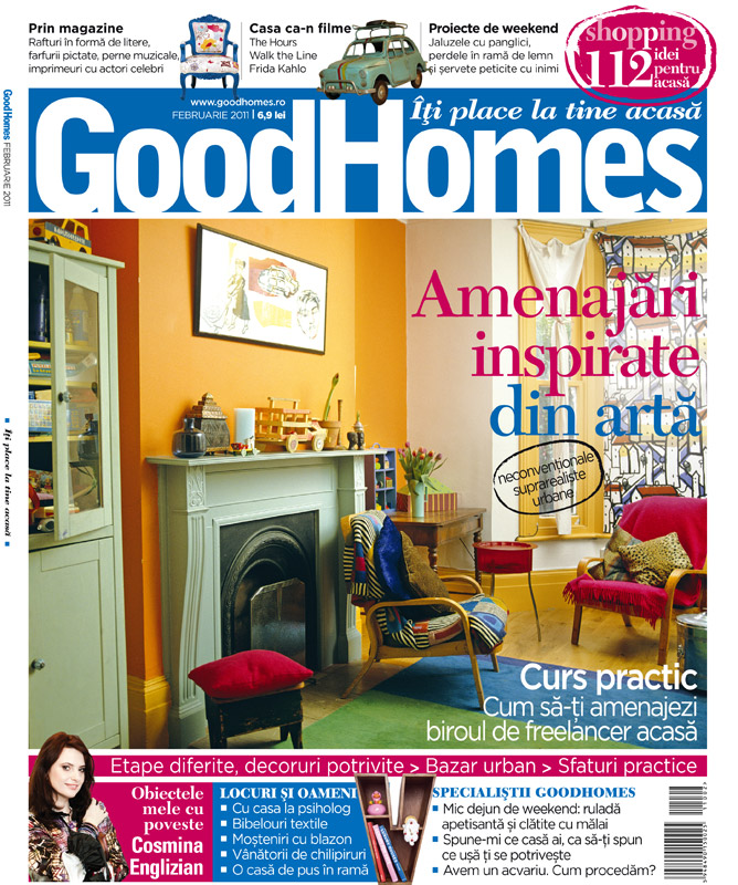 Good Homes ~~ Amenajari inspirate din arta ~~ Februarie 2011
