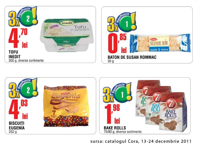 Aperitive de post ~~ oferte din catalogul Cora valabil in perioada 13-24 decembrie 2011
