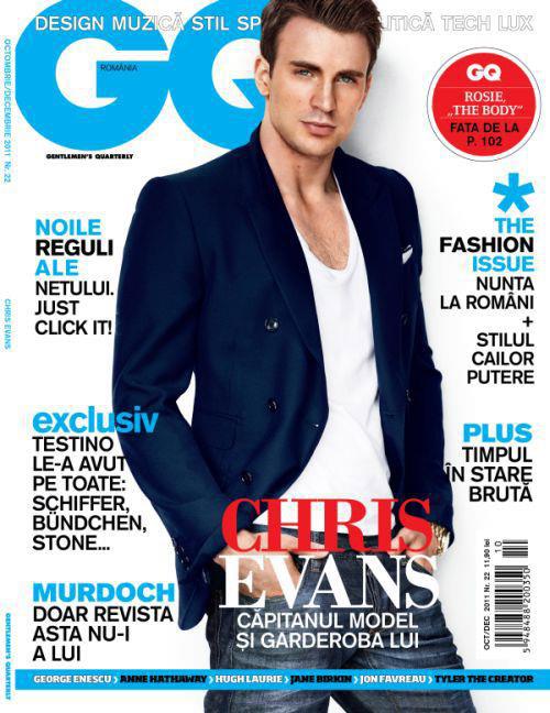 GQ Romania ~~ Cover man: Chris Evans ~~ Octombrie-Decembrie 2011