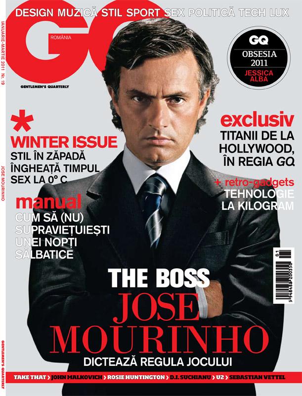 GQ Romania ~~ Winter issue ~~ Cover man: Jose Mourinho ~~ Ianuarie-Martie 2011