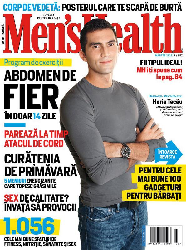 Men\'s Health Romania ~~ Coperta: Horia Tecau ~~ Martie 2011