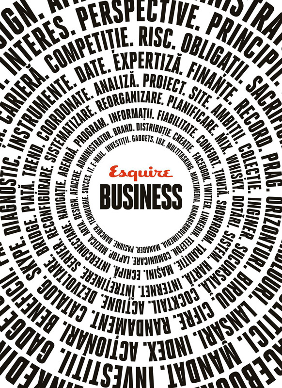 Esquire Business ~~ Suplimentul revistei Esquire editia Martie-Mai 2011 ~~ 32 de pagini cu sfaturi practice, gadgeturi de top şi poveşti ale unor oameni de succes