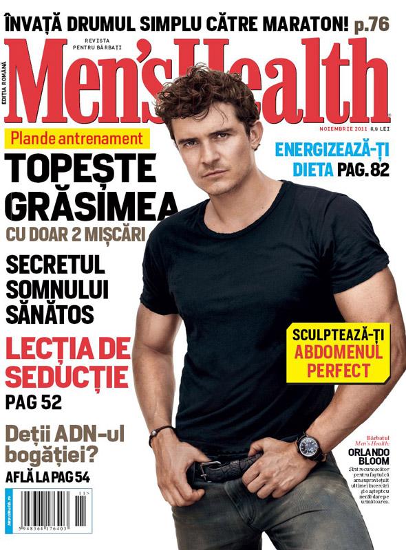 Men\'s Health Romania ~~ Cover man: Orlando Bloom ~~  Noiembrie 2011