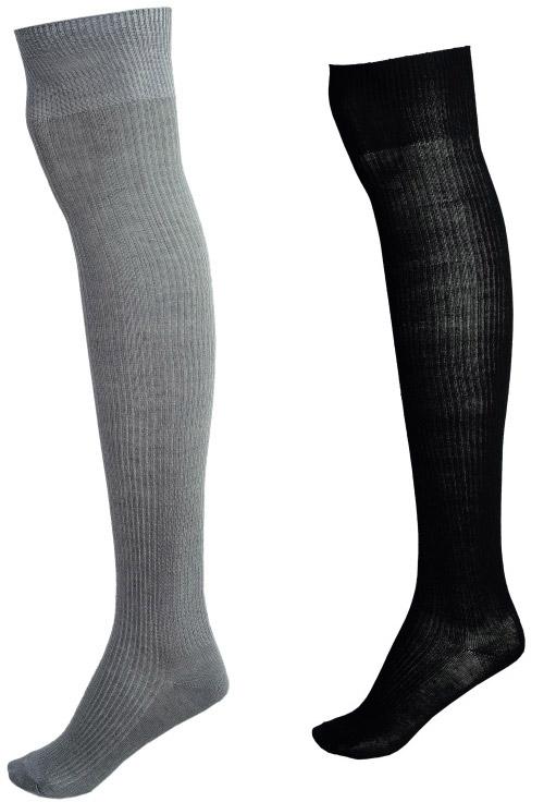 Sosete trei sferturi negre sau gri, cadoul Beau Monde Style, editia Ianuarie-Februarie 2012 ~~ Pret: 13,90 lei