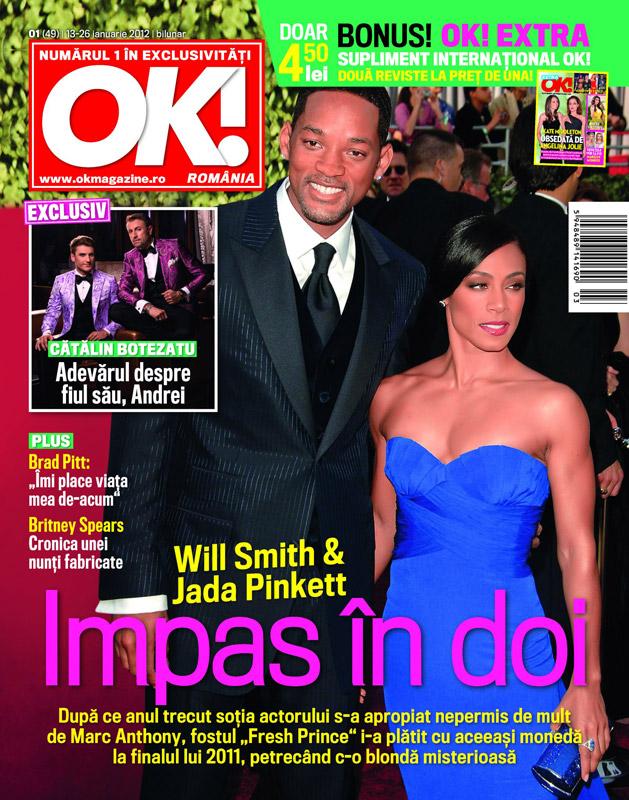 OK! Magazine Romania ~~ Cover people: Will Smith si Jada Pinkett ~~ 13 Ianuarie 2012