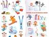 Abtibilduri (stickere) cu tema iarna ~~ impreuna cu revista Ioana din 12 Ianuarie 2012