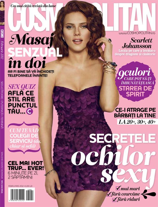 Cosmopolitan Romania ~~ Cover girl: Scarlett Johansson ~~ Februarie 2012