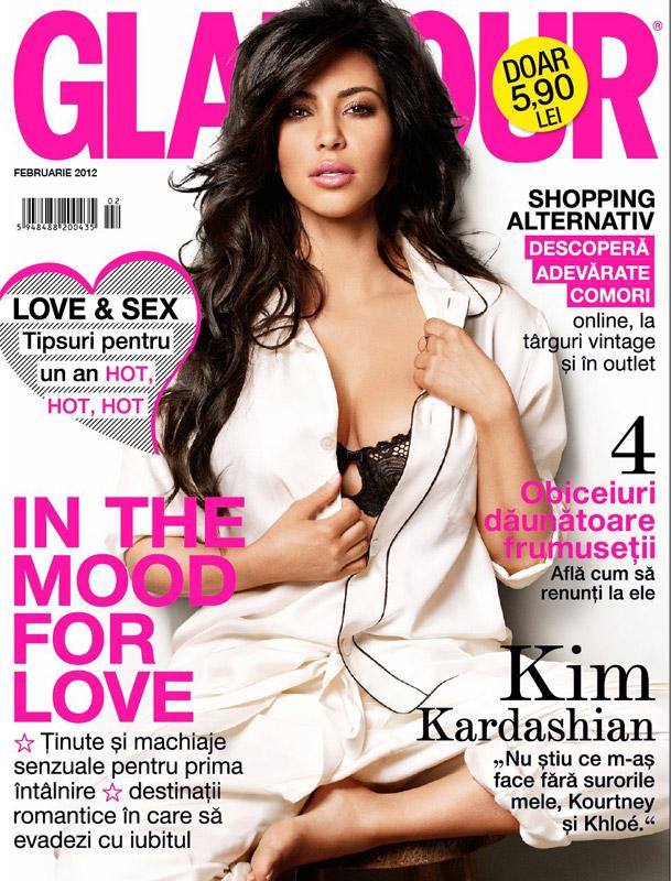 Glamour Romania ~~ Coperta: Kim Kardashian ~~ Februarie 2012