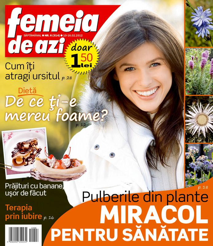 Femeia de azi ~~ Terapia prin iubire ~~ 10 Februarie 2012 (nr. 6)
