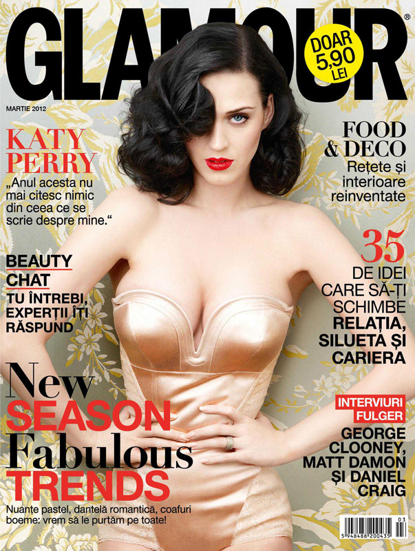 Glamour Romania ~~ Cover girl: Katy Perry ~~ Martie 2012