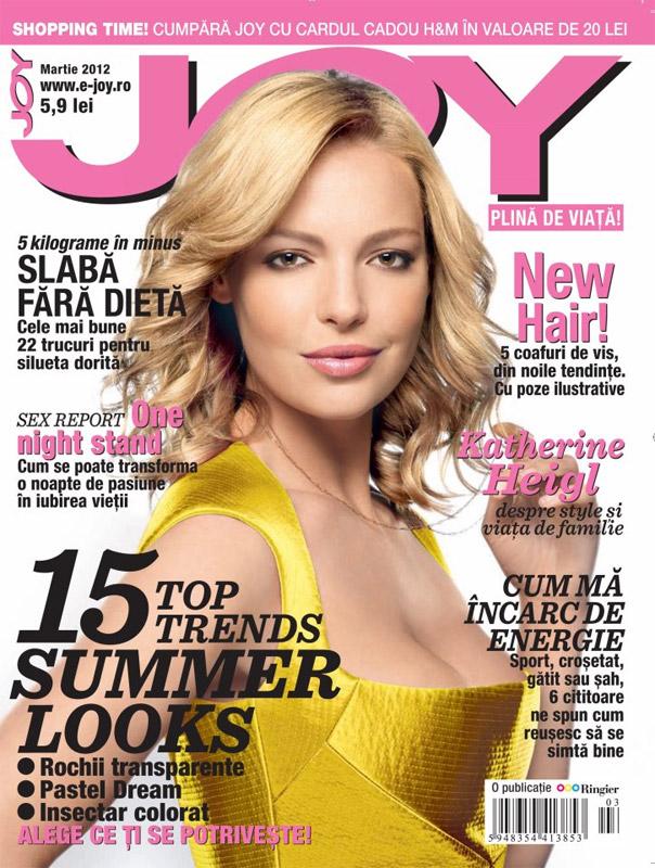 JOY Romania ~~ Cover girl: Katherine Heigl ~~ Martie 2012