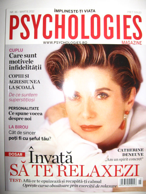 Psychologies ~~ Cover girl: Catherine Deneuve  ~~ Martie 2012