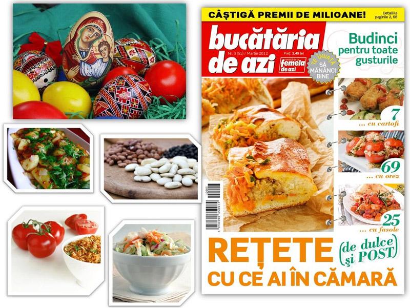 Bucataria de azi ~~ Retete de dulce si post cu ce ai in camara ~~ Martie 2012